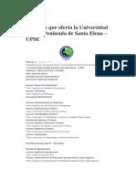 Carreras Que Oferta La Universidad Estatal Península de Santa Elena