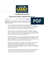 Adam Laxalt Statement