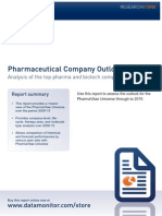 Pharmaceutical Company Outlook to 2015