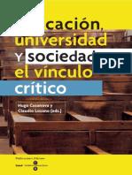 Educación, Universidad, El Vinculo Critico