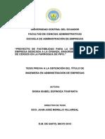 """""""Proyecto de Factibilidad Para La Creación de Una"""