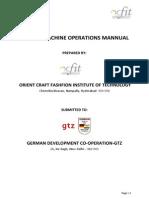 Sewing Machin s Operations Manual