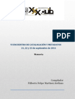 Vi Encuentro de Catalogaci%c3%93n - Publicacion Final Abril 14-2014