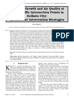 Vehicular Growth and Air Quality at Major Traffic Intersection Points in Kolkata City