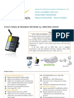 f2203 Cdma Ip Modem Technical Specification