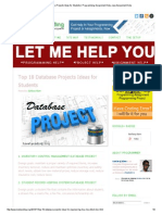 Top 18 Database Projects Ideas for Students _ Programming Assignment Help, Java Assignment Help