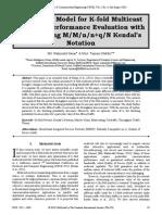 Teletraffic Model for K-fold Multicast Network