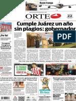 Periódico Norte edición del día 22 de agosto de 2014