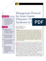 CANINE-Management Protocol for Acute Gastric Dilatation-Volvulus Syndrom in Dogs
