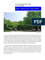 International Graduate Program Leaflet