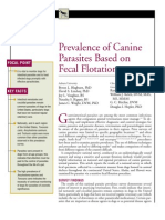 CANINE-Prevalence of canine parasştes based on fecal flotation