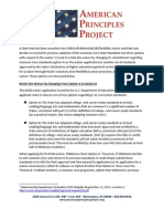 American Principles Project Waiver Memo for OK 2014