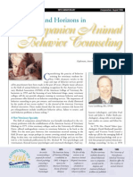 Companion Animal Behavior Counseling