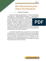 Godefroy Christian Henry - Nouvelles découvertes pour supprimer vos douleurs.pdf