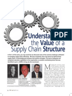 Understanding the value of a Supply Chain Structure