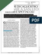 Alchimie e spettacoli a San Leo nel nome di Cagliostro - Corriere di Romagna del 22 agosto 2014