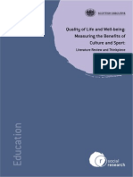 Quality of Life and Well-being