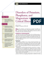Disorders of Potassium,Phosphorus and Magnesium in Critical Illness