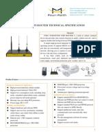 f3b31 Evdo&Evdo Wifi Router Specification