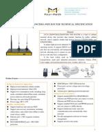f3c30 Lte&Wcdma&Lte&Wcdma Wifi Router Specification