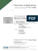 Baumit_ProSystem_CSTB