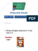 Spelling Rules Presentation by Dr. Shadia Yousef Banjar