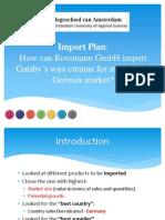 Import Plan Rossmann GmbH