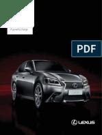 Lexus Gs350ex Brochure