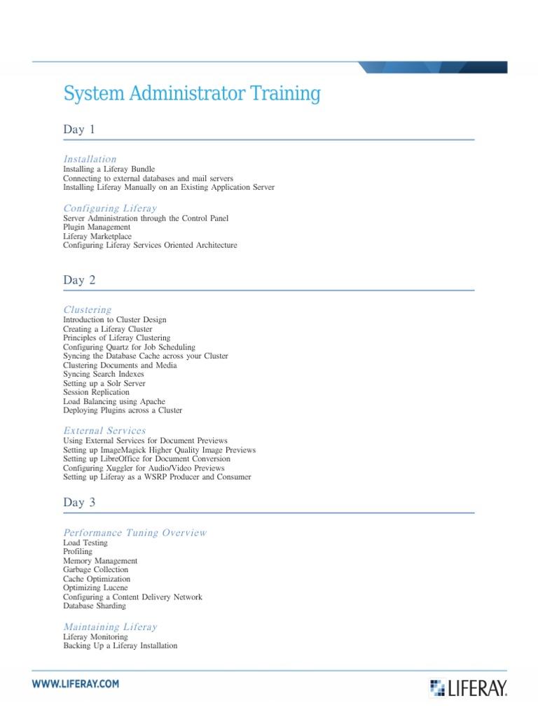 liferay system administrator training