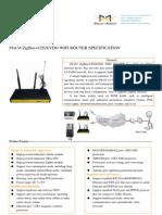 F8A34_ZigBee+LTE&EVDO_WIFI_ROUTER_SPECIFICATION