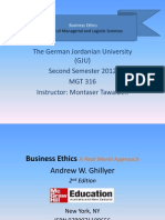 Business Ethics - Part 1 - Chapter 1