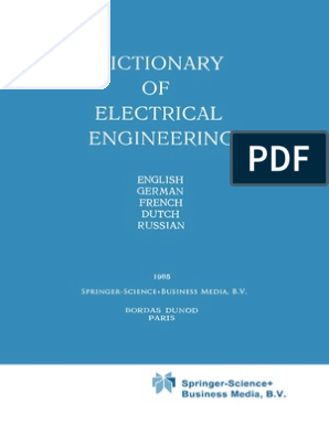 38407-Dictionary of Electrical Engineering- English, German, French