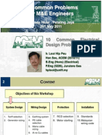 Common Practice Issues for Electrical 2011