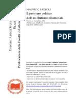 Maurizio Bazzoli - Il Pensiero politico dell'assolutismo illuminato