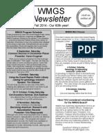 WMGS Fall 2014 Newsletter