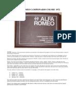 Alfa Romeo Campionario Colori