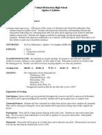ms  green algebra 1 syllabus
