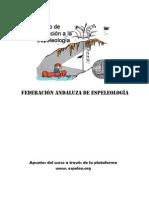 Apuntes Curso Iniciación a la  Espeleología.