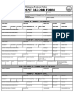 Revised Incident Record Form