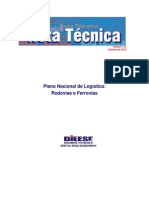 Plano Nacional de Logística - NotaTec113logisticaEstradas