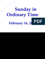 FAMILIA - 6th Sunday in Ordinary Time
