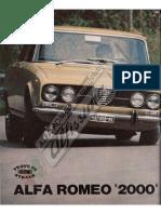 Alfa Romeo 2000 Berlina - Prova Su Strada