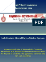 Haryana Police Constables Recruitment 2014