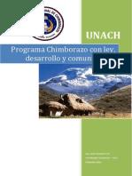 Programa Chimborazo Con Ley, Desarrollo y Comunicación