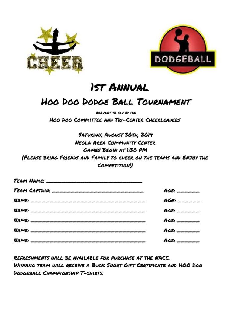 Dodgeball Tournament Sign Up Sheet Sports – Team Sign Up Sheet Template