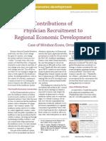 Contributions of Physician Recruitment to Regional Economic Development