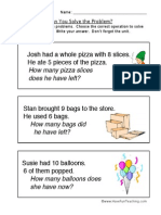 Word Problem Worksheet 3