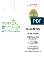 Mills Pond Park Softball_rules