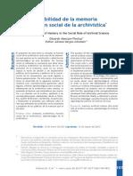 La Responsabilidad de La Memoria en La Función Social de La Archivística