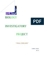 Biology Investigatory Project- Viral Diseases
